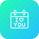 calendar, day, gift, i love you, present, propose, valentine icon