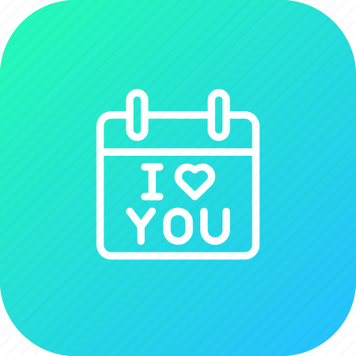 calendar, day, gift, i love you, present, propose, valentine icon