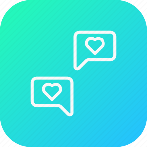 chat, communication, feeling, love, message, share, valentine icon