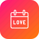 calendar, day, love, reminder, valentine icon