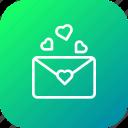 communication, envelope, letter, love, mail, message, valentine