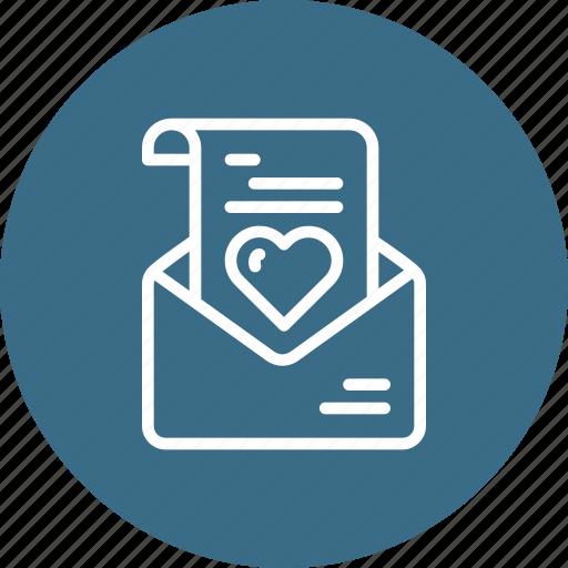 communication, envelope, heart, letter, love, message, valentine icon