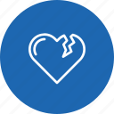 bakeup, break, heart, love, reject, relation, valentine icon