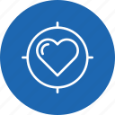 heart, im, love, search, target, true, valentine icon