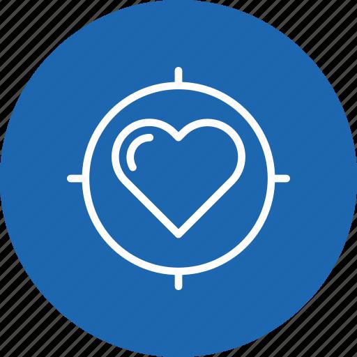 heart, im, love, search, target, true, valentine icon