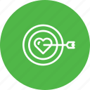 achieve, find, love, person, target, true, valentine icon