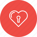 hard, heart, lock, love, tough, valentine icon