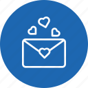 communication, envelope, letter, love, mail, message, valentine icon