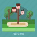 concept, face, garden, people, tree icon