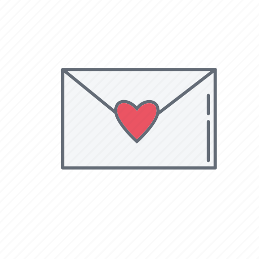 love, lovemail, mail, valentine icon