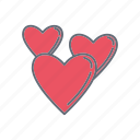 love, lovers, romance, valentine icon