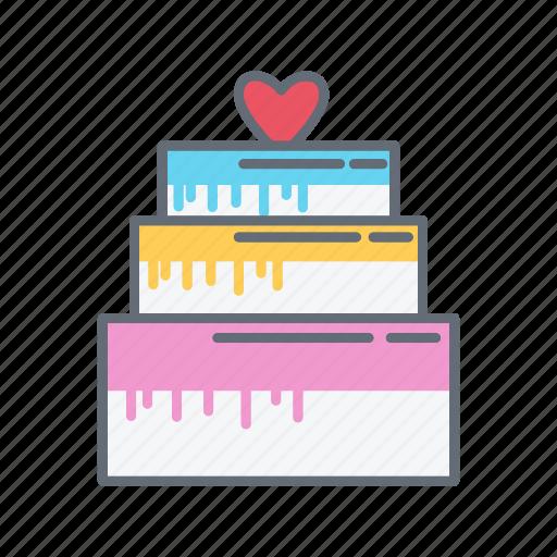 birthday, cake, tart, valentine icon