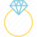 diamond, feb, love, ring, valentine icon