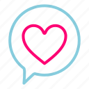 feb, heart, love, message, sms, valentine icon