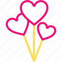ballons, feb, heart, love, valentine icon