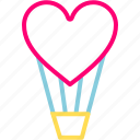 ballons, feb, festival, heart, love, valentine icon