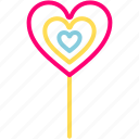 ballons, candy, feb, heart, love, valentine icon
