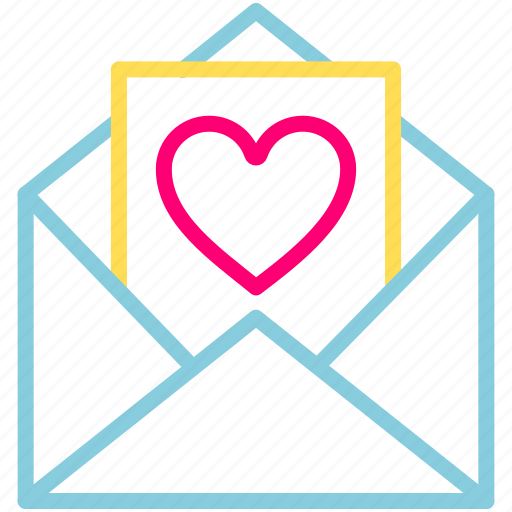 email, feb, heart, letter, love, valentine icon