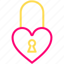 feb, heart, lock, love, valentine icon