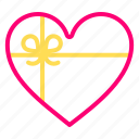 feb, gift, heart, love, presents, valentine icon