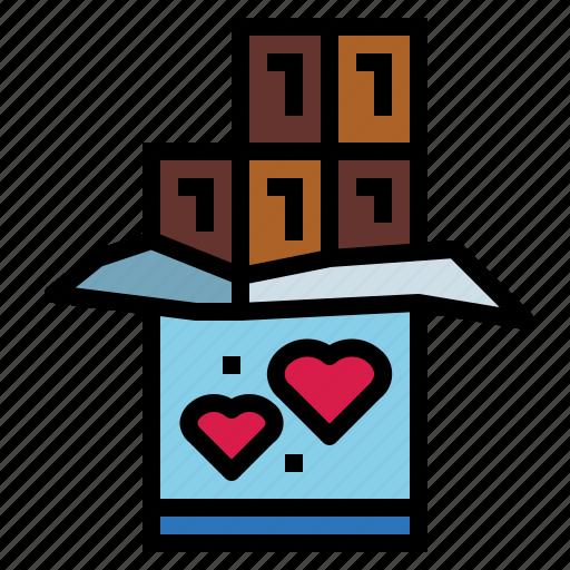 chocolate, food, love, sweet icon