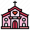 building, christian, church, religion icon