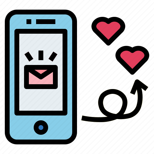 communication, email, heart, message icon