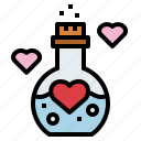 chemistry, flask, love, potion icon