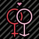 gender, love, romance, sex icon