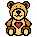 animal, bear, childhood, teddy, toy icon