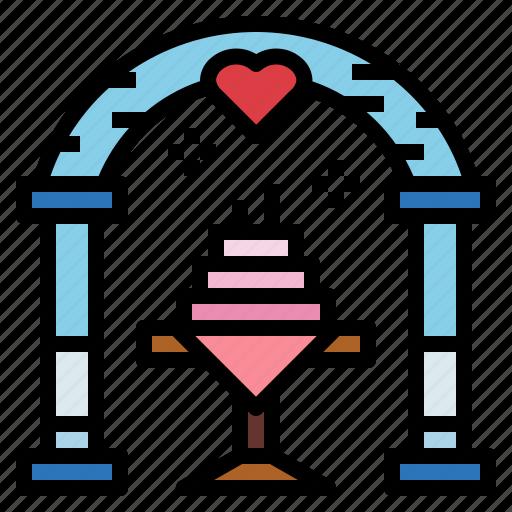 cake, love, romantic, wedding icon