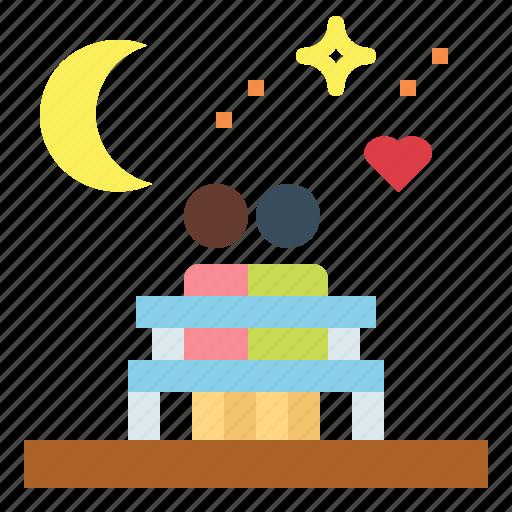 moon, night, stars, weather icon