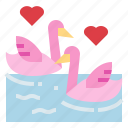 animal, couple, love, swans icon