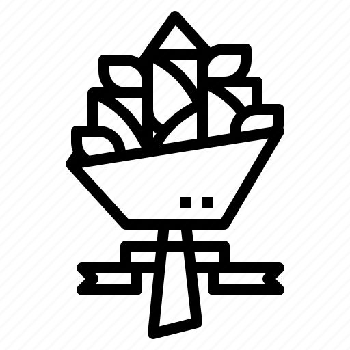 blossom, bouquet, flowers, love icon