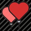 love, valentine, heart, couple, romance, wedding, ballon