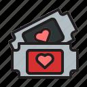 love, valentine, heart, couple, romance, wedding, tickets