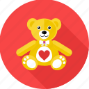 bear, gift, love, soft toy, softtoy, teddy, valentine gift icon
