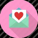 envelope, heart, letter, love, love letter, valentine, valentines icon