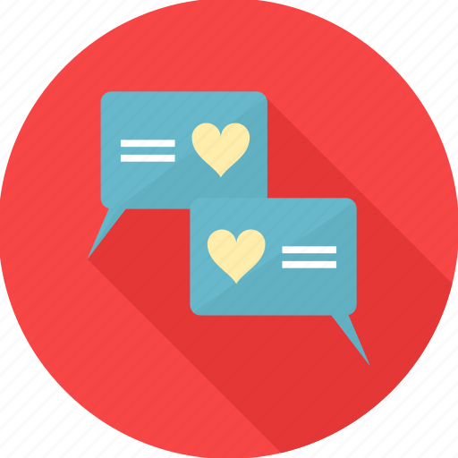 chatting, discussion, love, love chat, message, romantic, talk icon