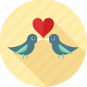 couple, heart, love, love birds, romance, romantic icon