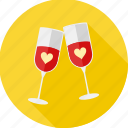 celebration, champange, date, drink, love, romantic, valentine icon