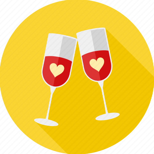 Champange, date, drink, love, valentine, celebration, romantic icon - Download on Iconfinder