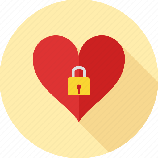 commitment, favorites, heart, lock, love, secure, valentine icon
