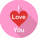 heart, i love you, love, propose, romance, romantic, valentine icon