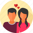 couple, love, love birds, marriage, romantic, valentine, wedding icon