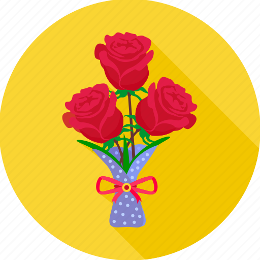 bouquet, flower, love, propose, rose, valentine, valentine day icon