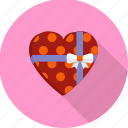 gift, heart, love, present, romantic, valentine, wedding icon