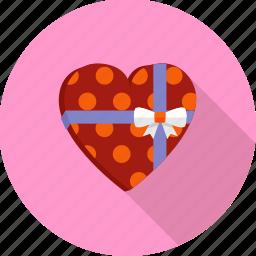 gift, heart, love, present, romantic, valentine, wedding icon