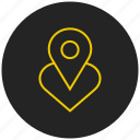 add favorite, favorite location, heart, like, love, mark, pin favorite location icon