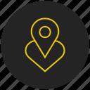add favorite, favorite location, heart, like, love, mark, pin favorite location icon